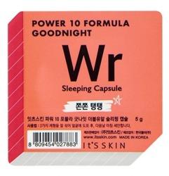 It's Skin Power 10 Formula Good Night Sleeping Capsule Wr Przeciwzmarszczkowa dwufazowa maseczka całonocna w kapsułce 5g