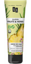 AA Super Fruits&Herbs krem do rąk ananas/szałwia 100ml