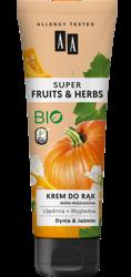 AA Super Fruits&Herbs krem do rąk dynia/jaśmin 100ml