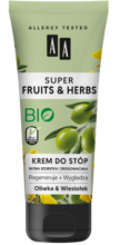 AA Super Fruits&Herbs krem do stóp oliwka/wiesiołek 75ml