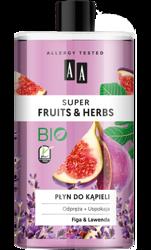 AA Super Fruits&Herbs płyn do kąpieli figa/lawenda 750ml