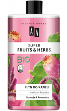 AA Super Fruits&Herbs płyn do kąpieli opuncja/amarantus 750ml