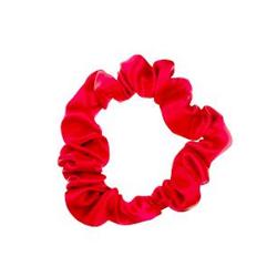 ALMANIA Scrunchie Mała jedwabna gumka do włosów Czerwona