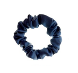 ALMANIA Scrunchie Mała jedwabna gumka do włosów Granat