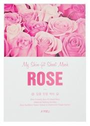 A'pieu My Skin Fit Sheet Mask Nawilżająco-kojąca maseczka w płachcie ROSE