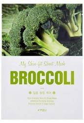A'pieu My Skin Fit Sheet Mask Wygładzająco-oczyszczająca maseczka w płachcie BROCCOLI