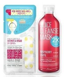 Ariul Juice Cleanse Mask 2X PLUS Raspberry&Lentil Maska do twarzy w płachcie
