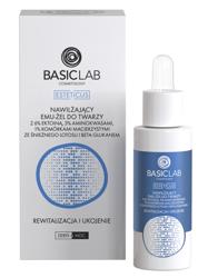 BasicLab Nawilżający emu-żel do twarzy z 6% ektoiną i komórkami macierzystymi ze Śnieżnego Lotosu Rewitalizacja i ukojenie 30ml