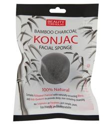 Beauty Formulas Bambo Charcoal Konjac Facial Sponge Gąbka z węglem bambusowym