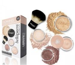 Bellapierre Glowing Kit Medium Zestaw mineralnych kosmetyków do makijażu