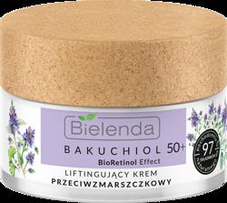 Bielenda BAKUCHIOL BioRetionol Effect Liftingujący krem przeciwzmarszczkowy dzień/noc 50+ 50ml