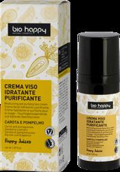 BioHappy Crema Viso Idratante Oczyszczający krem do twarzy Żółta Marchewka&Grejpfrut 50ml