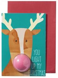 Bomb Cosmetics Kartka świąteczna z musującą kulą do kąpieli You Light Up My Christmas