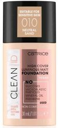 Catrice CLEAN ID High Cover Luminous Matt Foundation Kryjąco-matujący podkład do twarzy 010 30ml