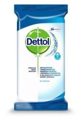 DETTOL Antybakteryjne chusteczki do czyszczenia bez wybielaczy 36szt