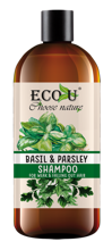 ECO-U Szampon do włosów bazylia&pietruszka 500ml