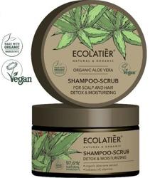 ECOLATIER szampon-peeling do włosów i skóry głowy Nawilżający Detoks ALOE VERA 300g