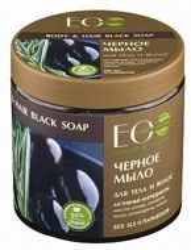 EO LAB Czarne greckie mydło do włosów i ciała 450ml