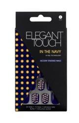 Elegant Touch Accent Studded Nails - Sztuczne paznokcie zdobione z taśmą samoprzylepną In The Navy, 24 sztuki