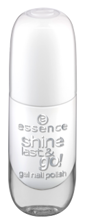 Essence Shine Last&Go! Żelowy lakier do paznokci 33 Wild white ways 8ml