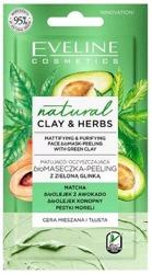 Eveline Cosmetics CLAY&HERBS biomaseczka-peeling Matująco-Oczyszczająca z zieloną glinką 8ml