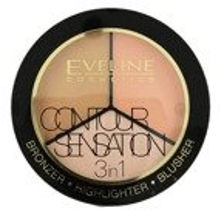 Eveline Cosmetics Contour Sensation 3w1 Paleta do konturowania 02