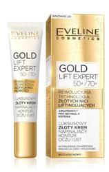 Eveline Cosmetics GOLD Lift Expert Luksusowy złoty krem napinający kontur oczu i ust 50+/70+ 15ml