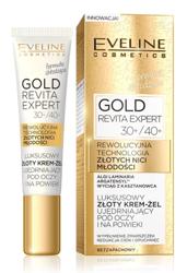 Eveline Cosmetics GOLD Lift Expert Luksusowy złoty krem-żel ujędrniający pod oczy i na powieki 30+/40+ 15ml