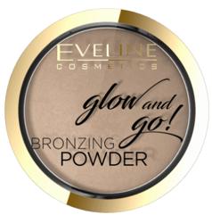 Eveline Cosmetics Glow&GO Bronzing Powder Wypiekany puder bronzujący 01 Go Hawaii 8,5g