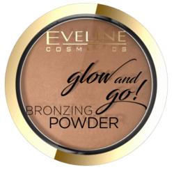 Eveline Cosmetics Glow&GO Bronzing Powder Wypiekany puder bronzujący 02 Jamaica Bay 8,5g