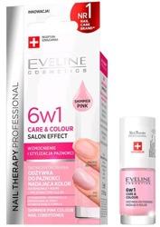 Eveline Cosmetics Odżywka do paznokci 6w1 Care&Colour nadająca kolor Shimmer Pink 5ml