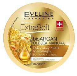 Eveline Extra Soft Odżywczy krem odmładzający do twarzy i ciała bio ARGAN i OLEJEK MANUKA 175ml