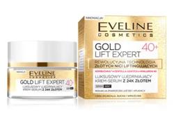 Eveline GOLD Revita Expert Luksusowy ujędrniający krem-serum z 24K złotem 40+ 50ml
