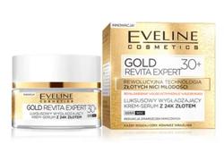 Eveline GOLD Revita Expert Luksusowy wygładzający krem-serum z 24K złotem 30+ 50ml