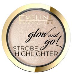 Eveline Glow And Go!  Wypiekany rozświetlacz 01 Champagne 8,5g