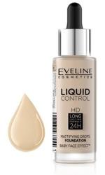 Eveline Liquid Control HD Matujący podkład do twarzy 010 Light Beige 32ml