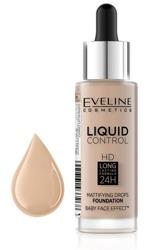 Eveline Liquid Control HD Matujący podkład do twarzy 030 Sand Beige 32ml