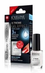 Eveline X-Treme Gel Effect Top Coat płynne szkło- lakier nawierzchniowy do paznokci