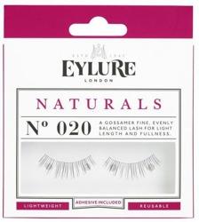Eylure Glue On Strip - Sztuczne rzęsy na pasku Nr 020 Naturals, 1 para + klej 1ml