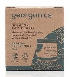 GEORGANICS Mineralna pasta do zębów w słoiku English Peppermint 60ml