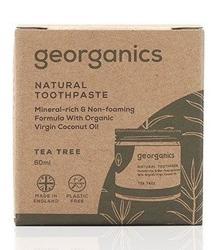 GEORGANICS Mineralna pasta do zębów w słoiku Tea Tree 60ml