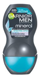 Garnier MEN Roll on Mineral Pureactive 48h Dezodorant w kulce dla mężczyzn 50ml