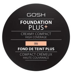 Gosh Foundation Plus Creamy Compact Podkład w kompakcie 006 Honey 9g