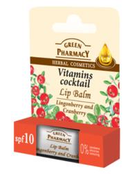 Green Pharmacy Balsam do ust Borówka brusznica Żurawina 3,6g