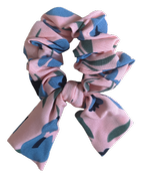 Gumka do włosów scrunchie 1377 różowa
