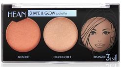 Hean Shape&Glow Palette 3in1 Paleta do konturowania twarzy 8g
