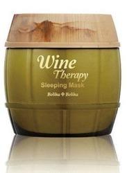 Holika Holika Wine Therapy Sleeping Mask White Wine - Całonocna maska rozjaśniająca do twarzy z ekstraktem z białego wina 120ml