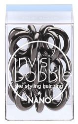 INVISIBOBBLE NANO True Black Czarna mała gumka do włosów, 3 sztuki