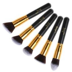 Jessup Brushes Set T061 Zestaw 5 pędzli do makijażu Black/Gold