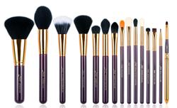 Jessup T095 Zestaw 15 pędzli do makijażu Purple/Gold